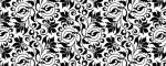 Obojek Abstract Flower Black - Vzor
