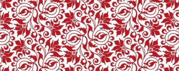 Abstract Flower Red